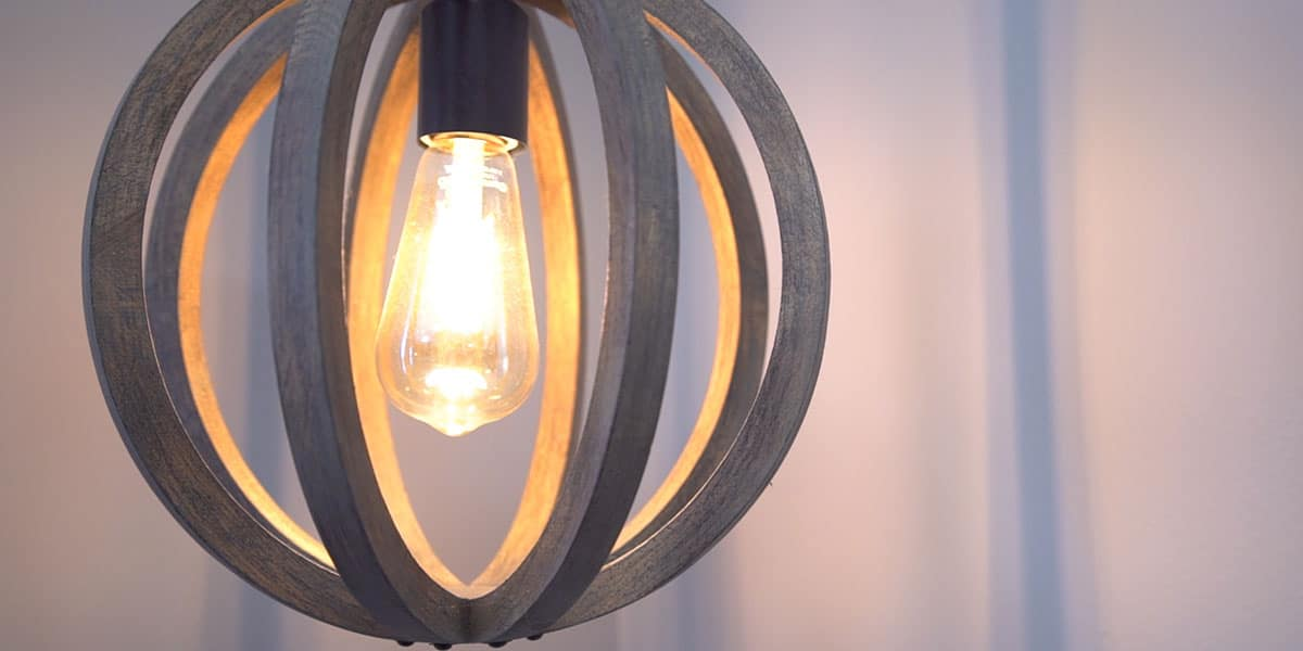 lightbulb with silver metal ceiling sconce